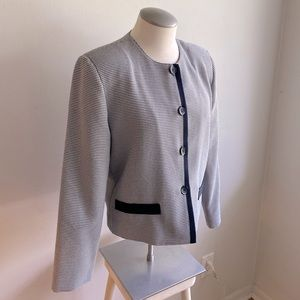 Match Makers Cropped Houndstooth Blazer